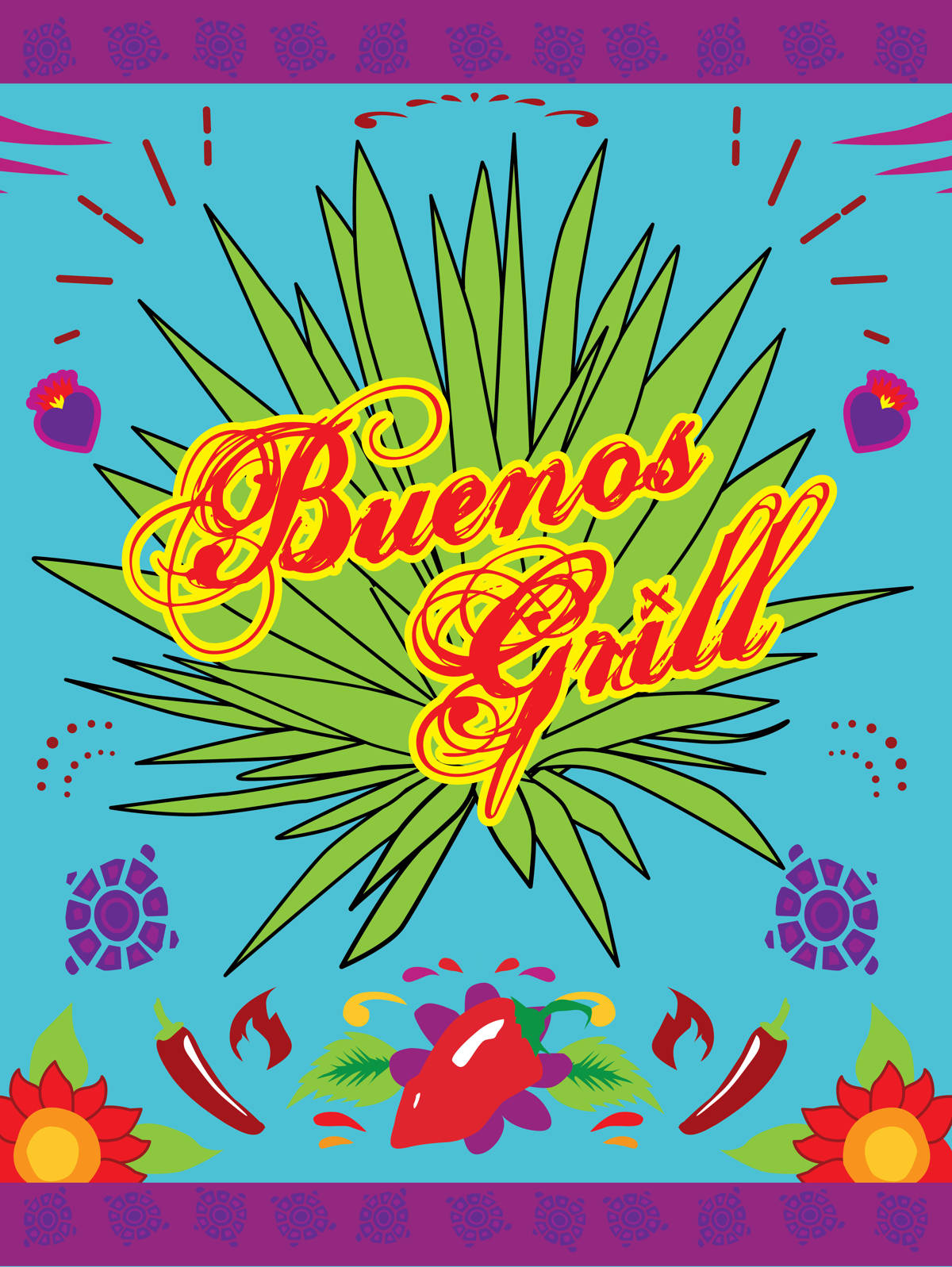 buenos grill poster